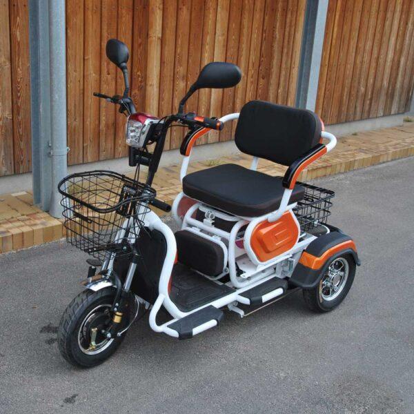 Flot el-scooter med plads til 2 personer