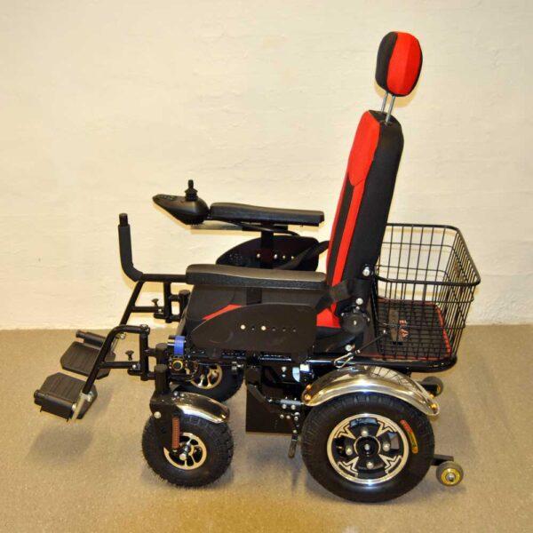 El-kørestol med stor kurv